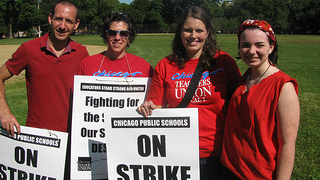 Chicago Teachers Strike Ends; Photo credit: Peoplesworld, Creative Commons.
